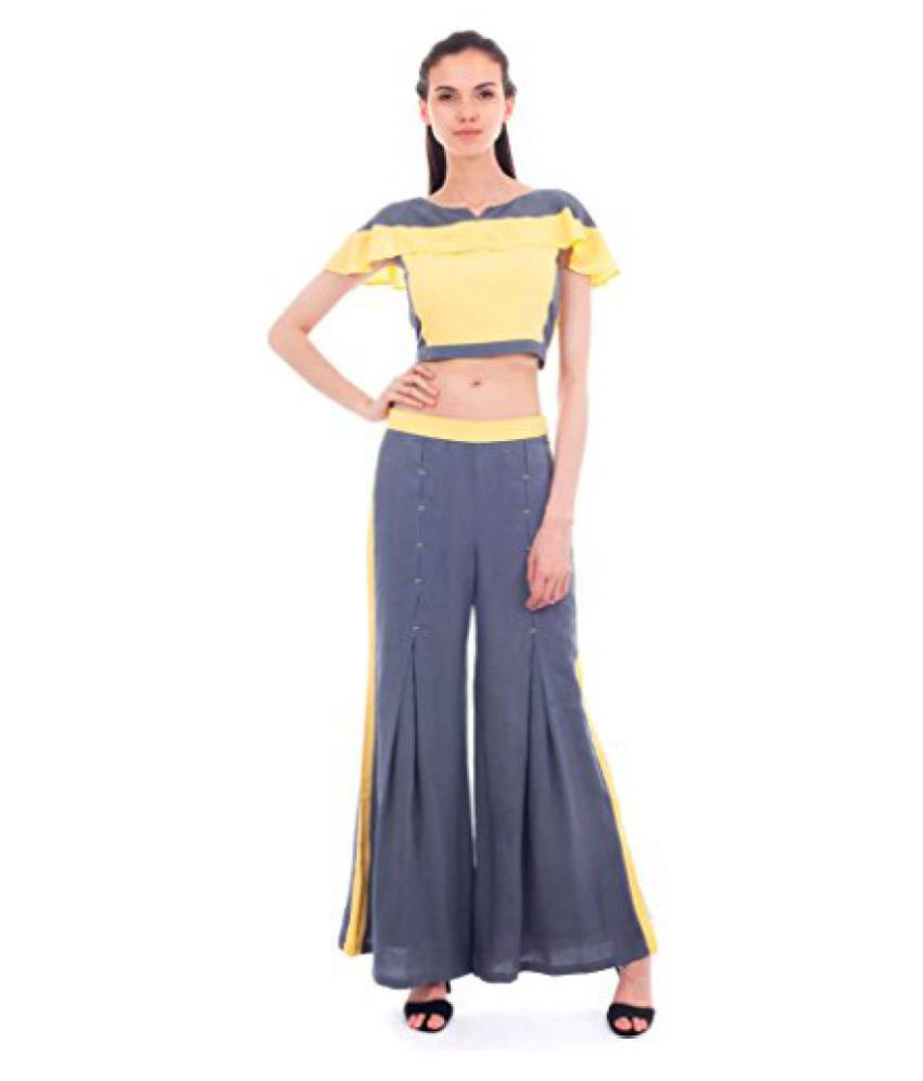 Forever9teen Rayon Crop Top_4ss16-1082a-cop32-p  available at snapdeal for Rs.899