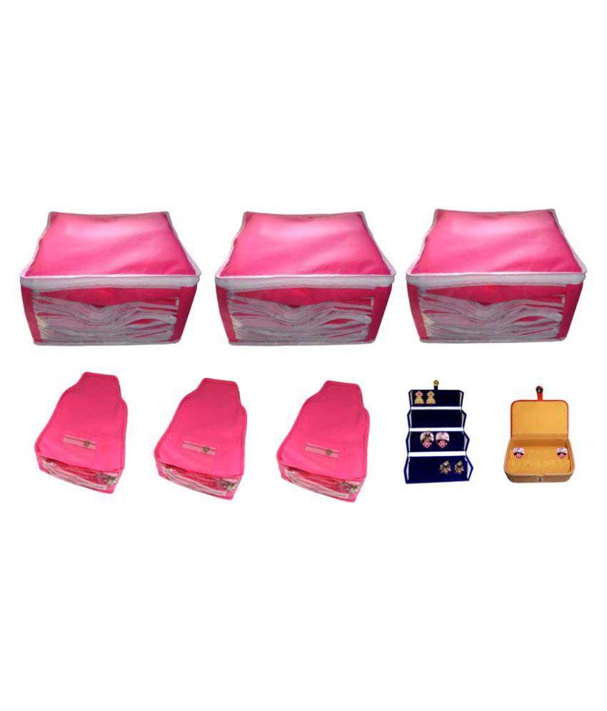Abhinidi Pink Saree Covers - 8 Pcs