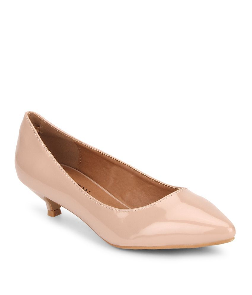 a8920a4f2c6 Carlton London Beige Kitten Heels Price in India- Buy Carlton London Beige Kitten  Heels Online at Snapdeal