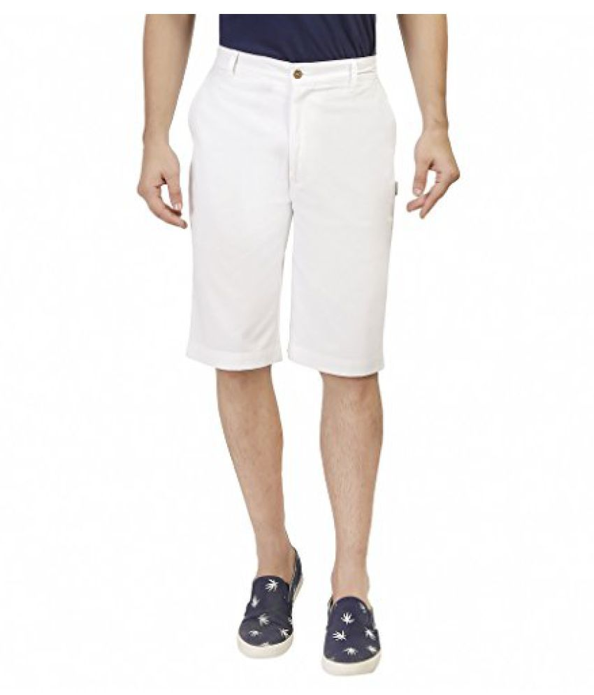 Ashdan Classic Long Chino Shorts White