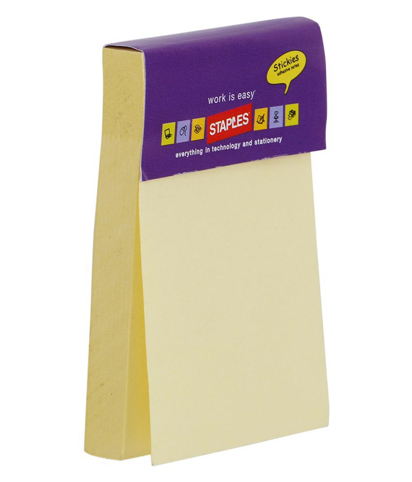 staples yellow sticky notes buy online at best price in india