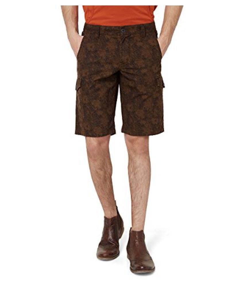 Hammock Men's Printed Cargo Shorts - Brown/Black