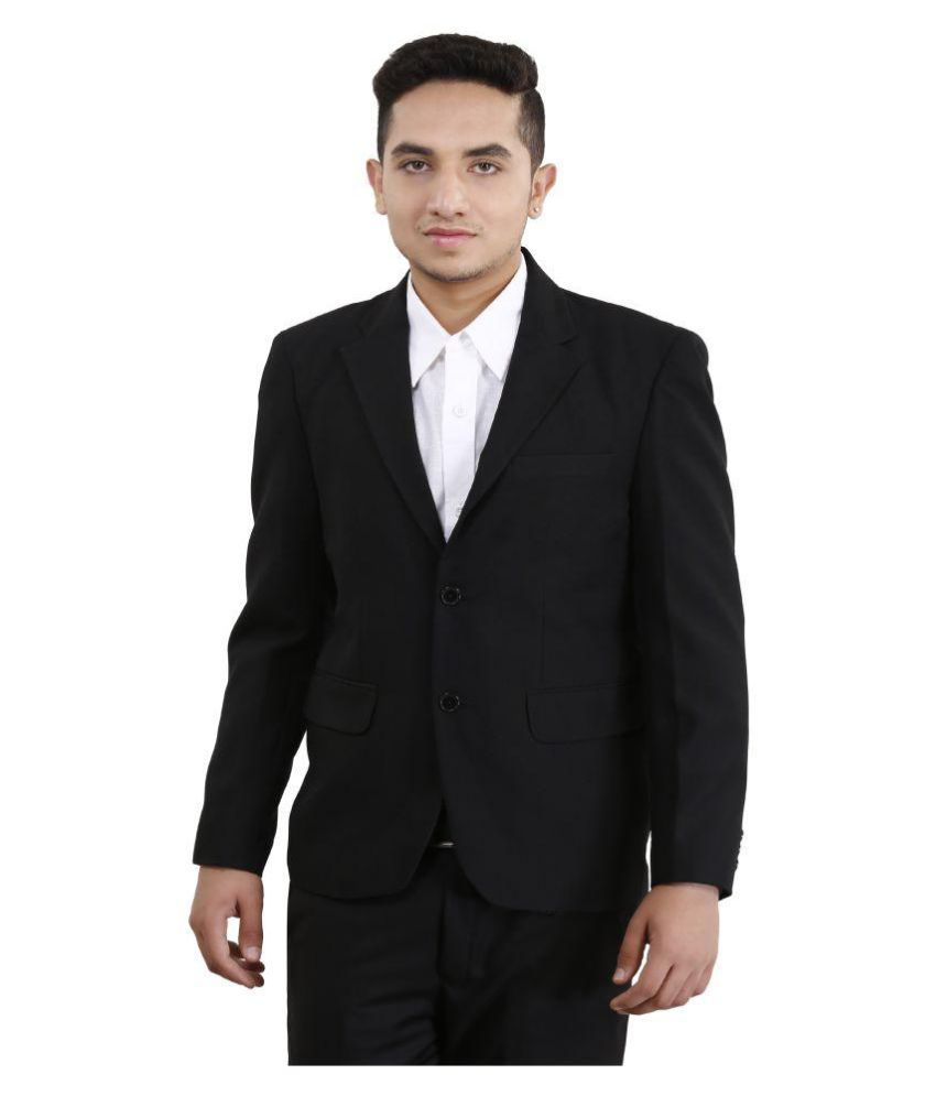 Loui-E-Ville Black Solid Formal Blazers