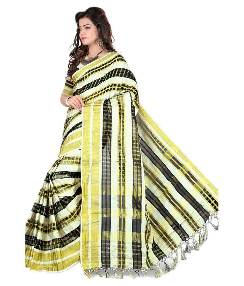Silk Zone Multicoloured Cotton Silk Saree