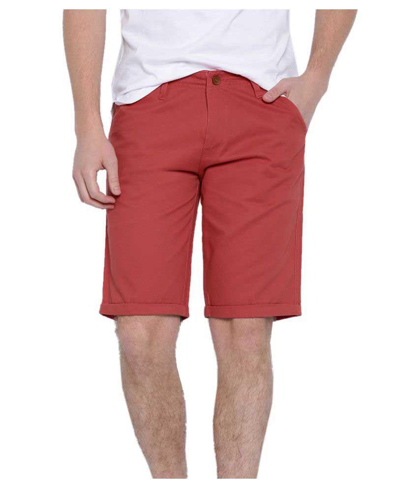 Showoff Red Shorts