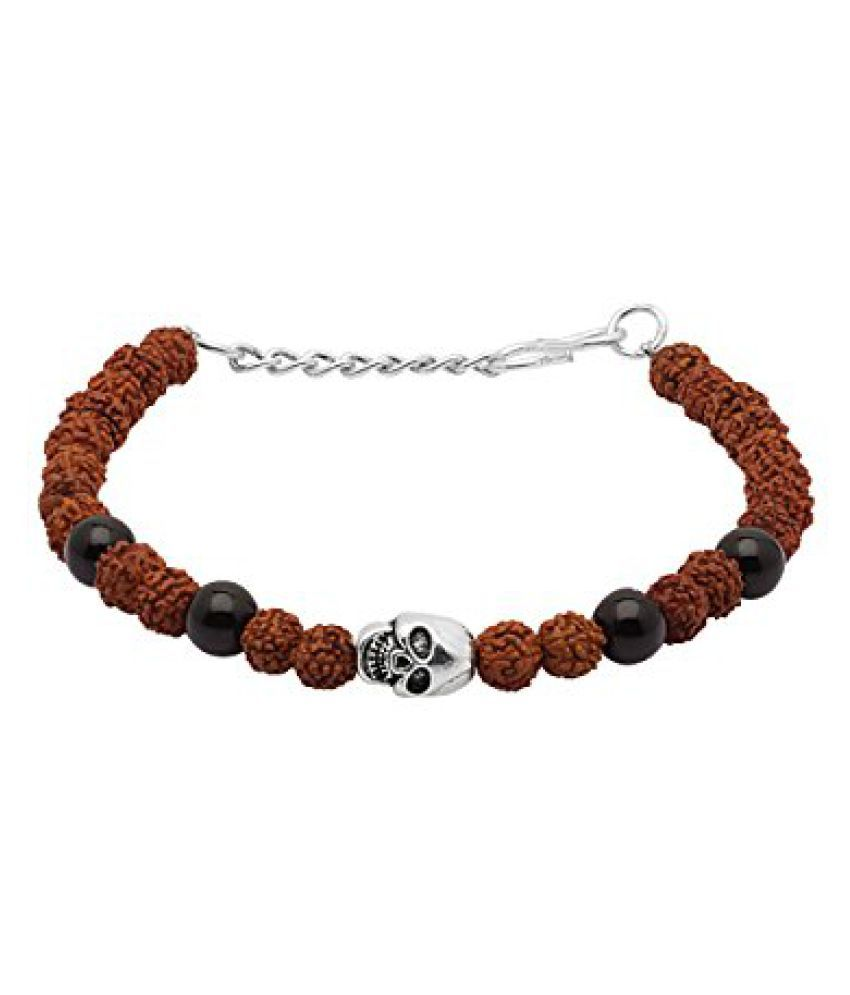 Voylla Skull Designer Rudraksh Beaded Bracelet  available at snapdeal for Rs.189