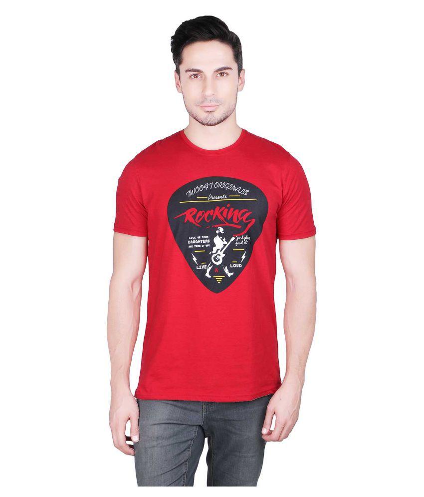 Prinlay Red Round T-Shirt