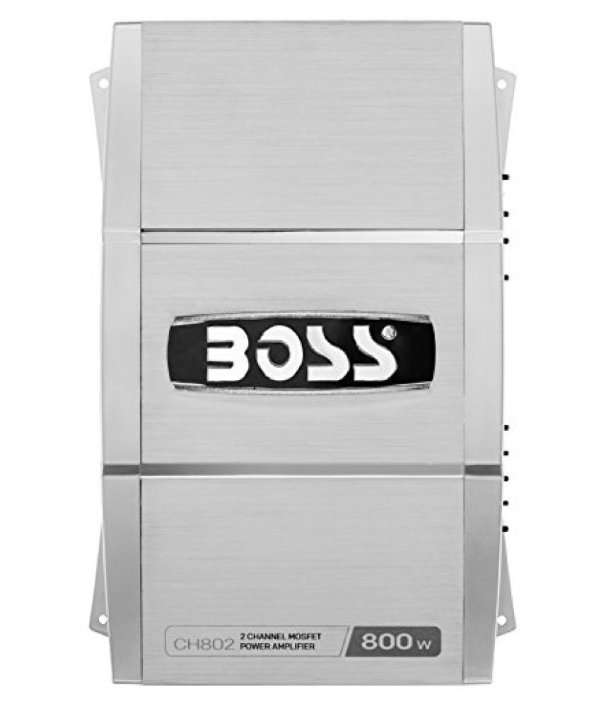 BOSS AUDIO CH802 CHAOS 800-Watt Full Range, Class A/B 2-8 Ohm Stable 2 Channel Amplifier with Remote Subwoofer Level Control