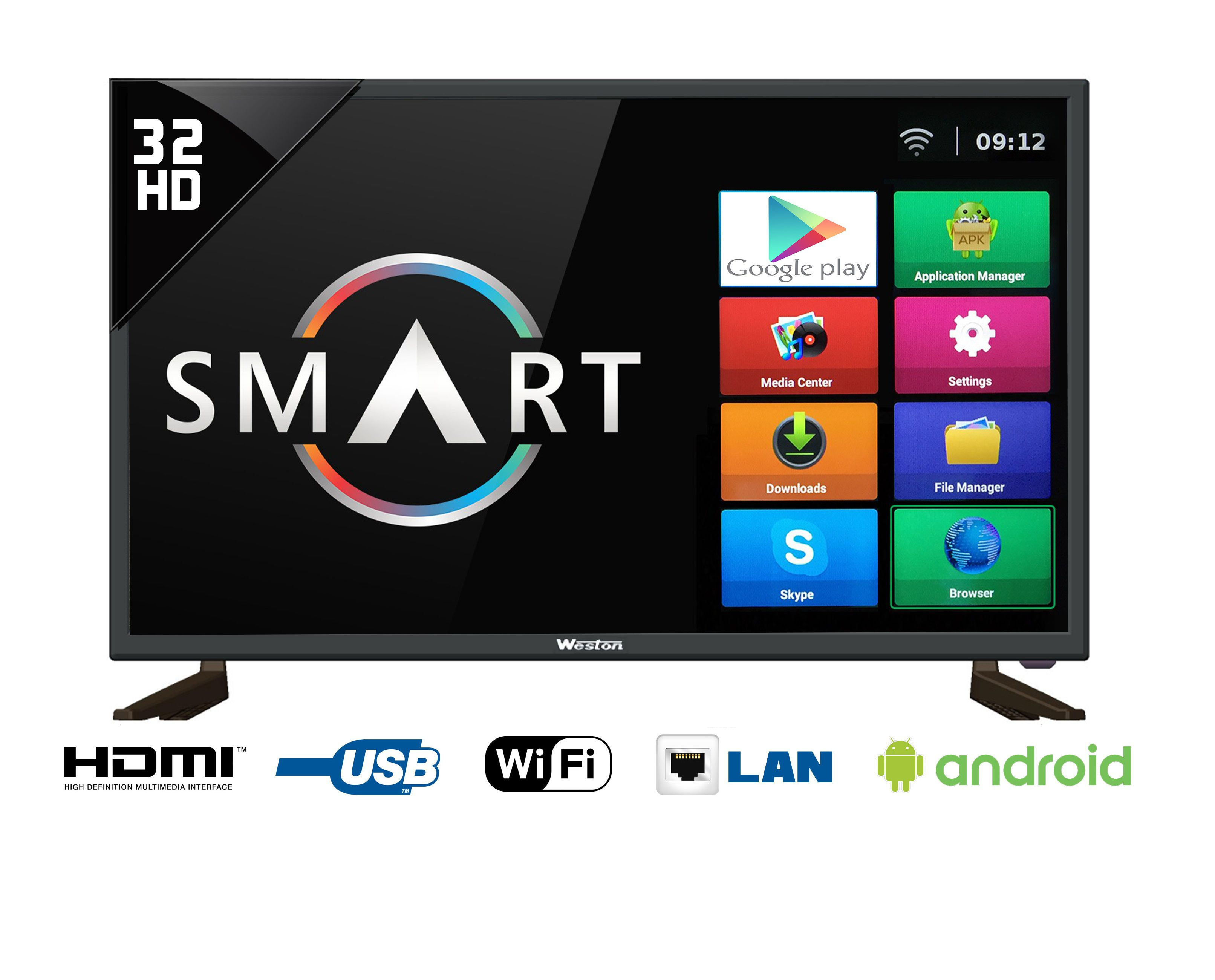 Weston WEL3200S 80 cm (32) HD  SMART LED Television