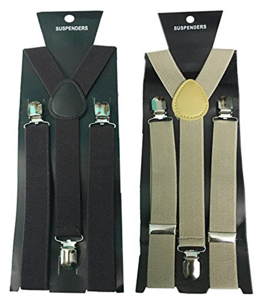 Atyourdoor Y- Back Suspenders for Men(Dark Brown & Light Brown Color)