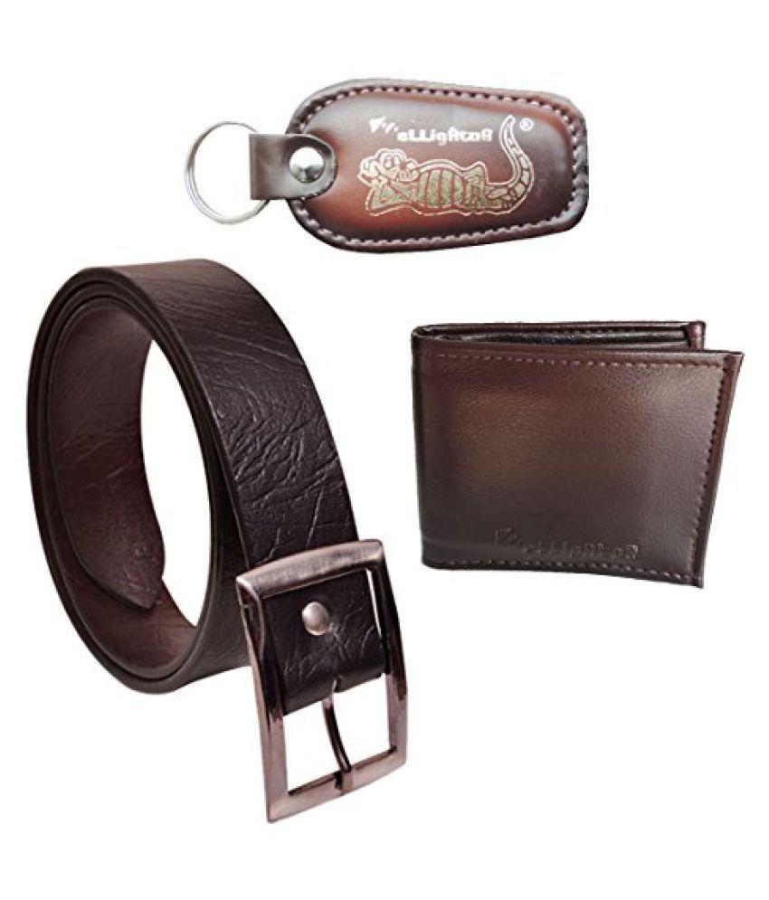 Elligator Black PU Combo Belts