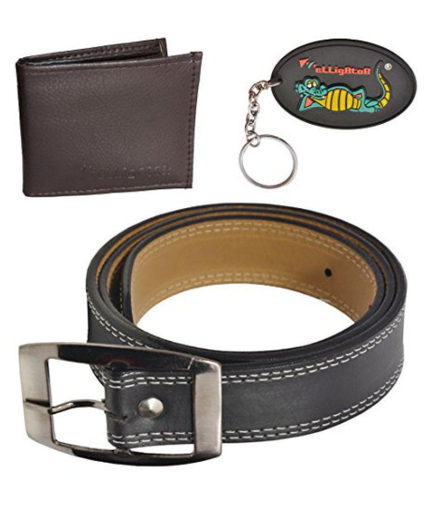 Elligator Black Rubber Combo Belts