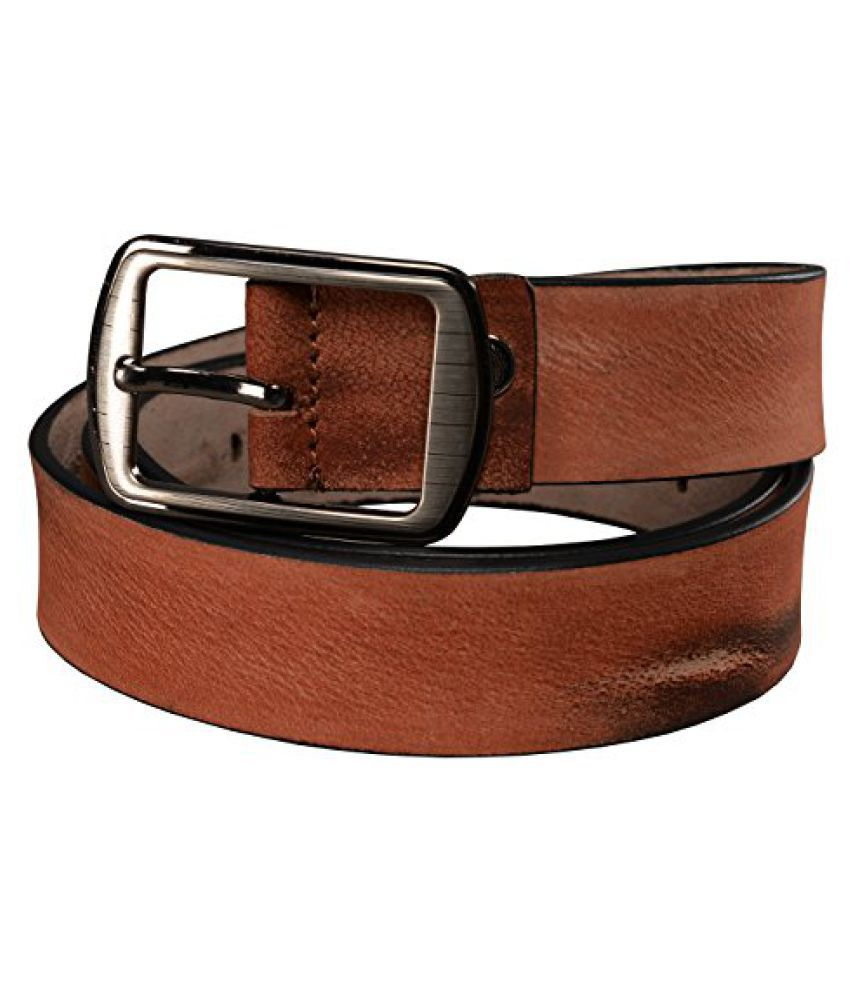 GetAbhi Brown Leather Casual Belts