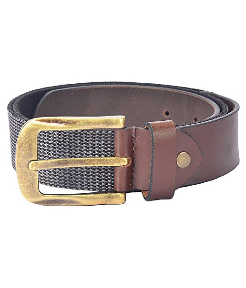 Hidelink Unisex Leather Belt (SP8085, Black, 36)