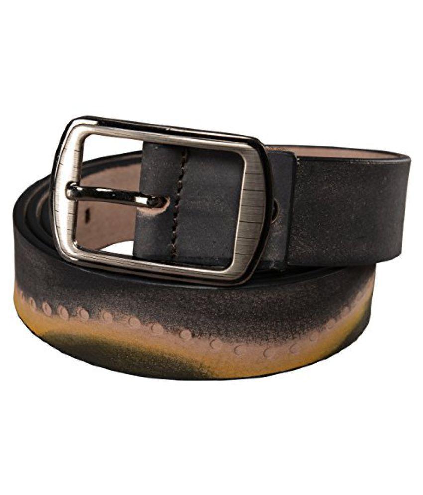 Leather Junction Black Stylish Belt For Men Size 40