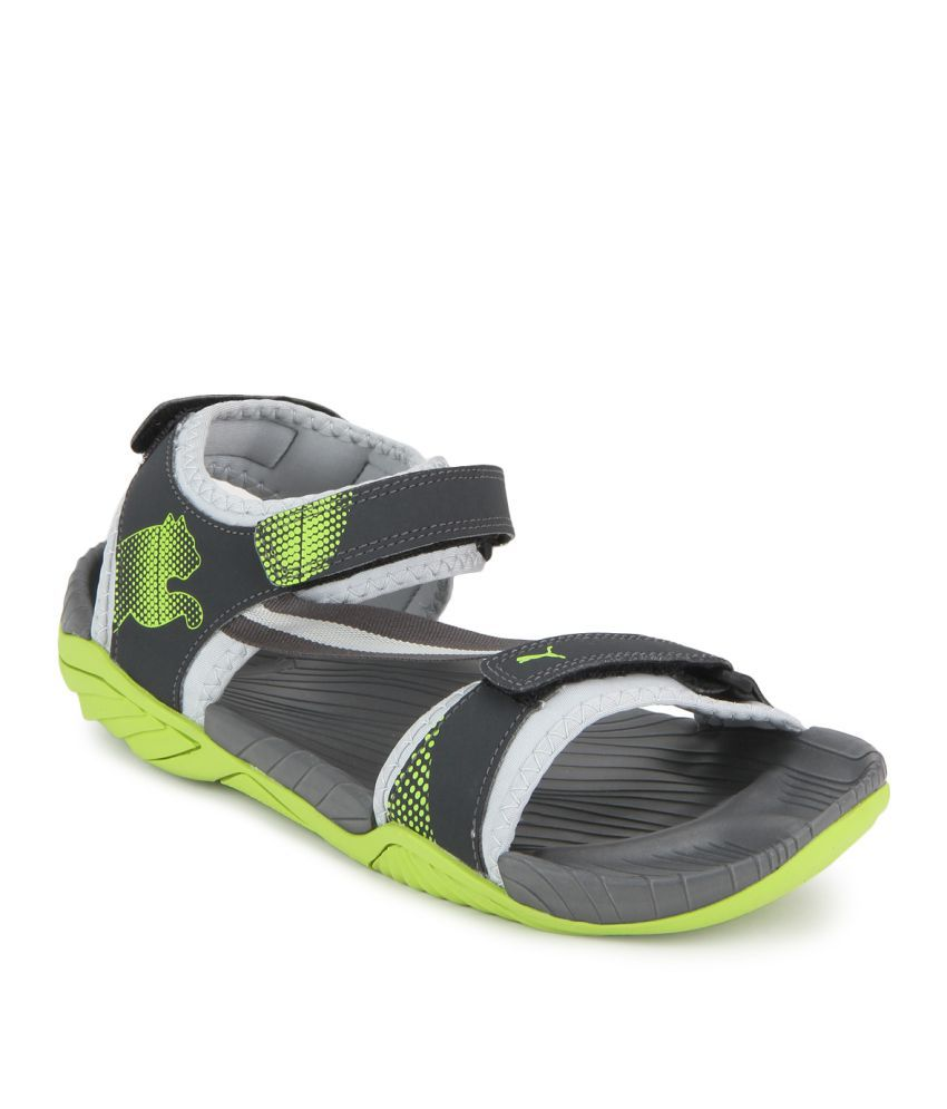 8a5d214bcfd0d7 Puma Elego IDP Gray Floater Sandals - Buy Puma Elego IDP Gray Floater  Sandals Online at Best Prices in India on Snapdeal