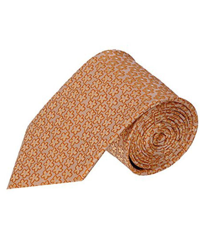 Tiekart Floral Print MenS Tie (Uf12_Brown)