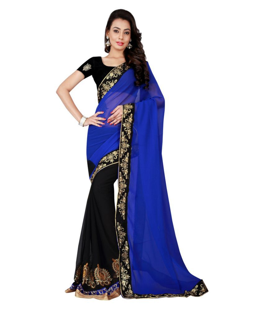 Lovit Fashion Multicoloured Georgette Saree