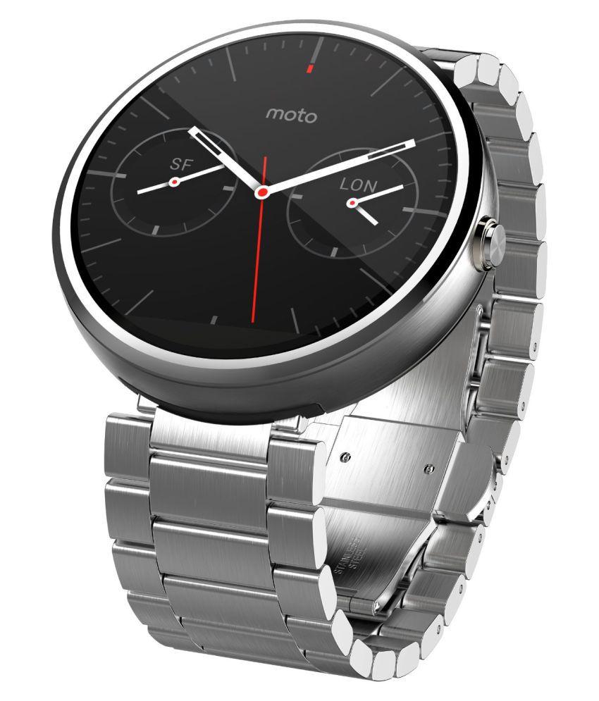 Motorola Moto 360 - Light Metal Smart Watches Silver Snapdeal deals