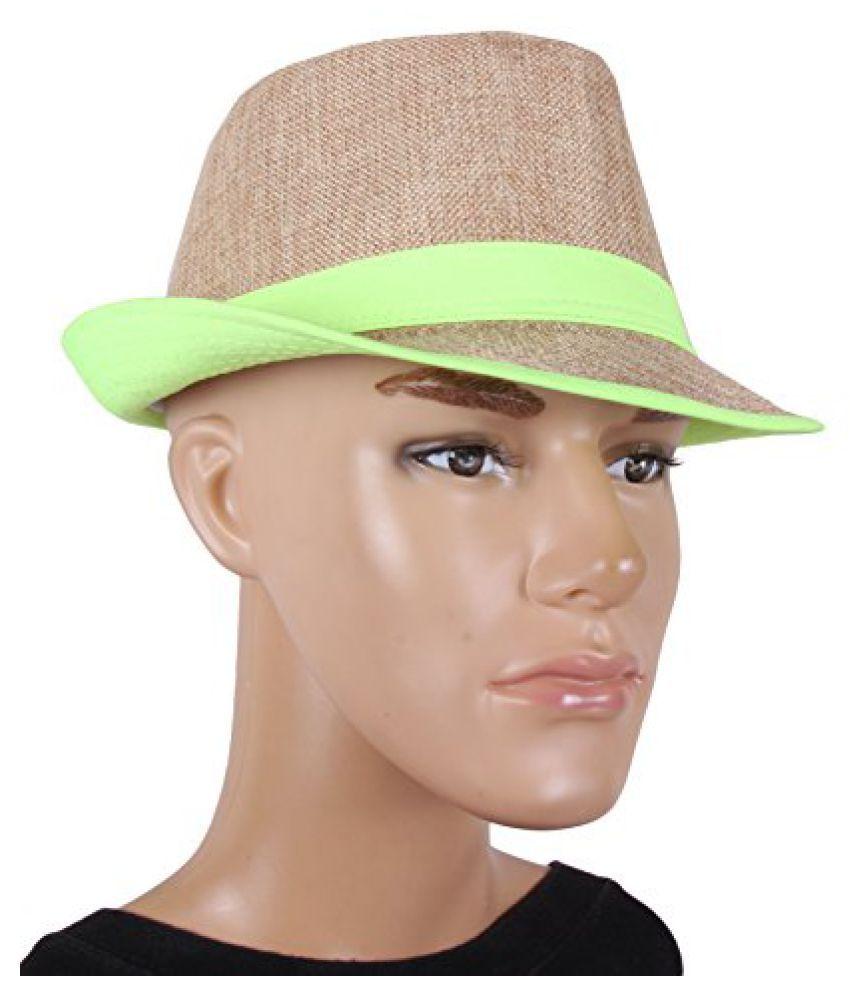 Jute Brown Fidora Hat For Men