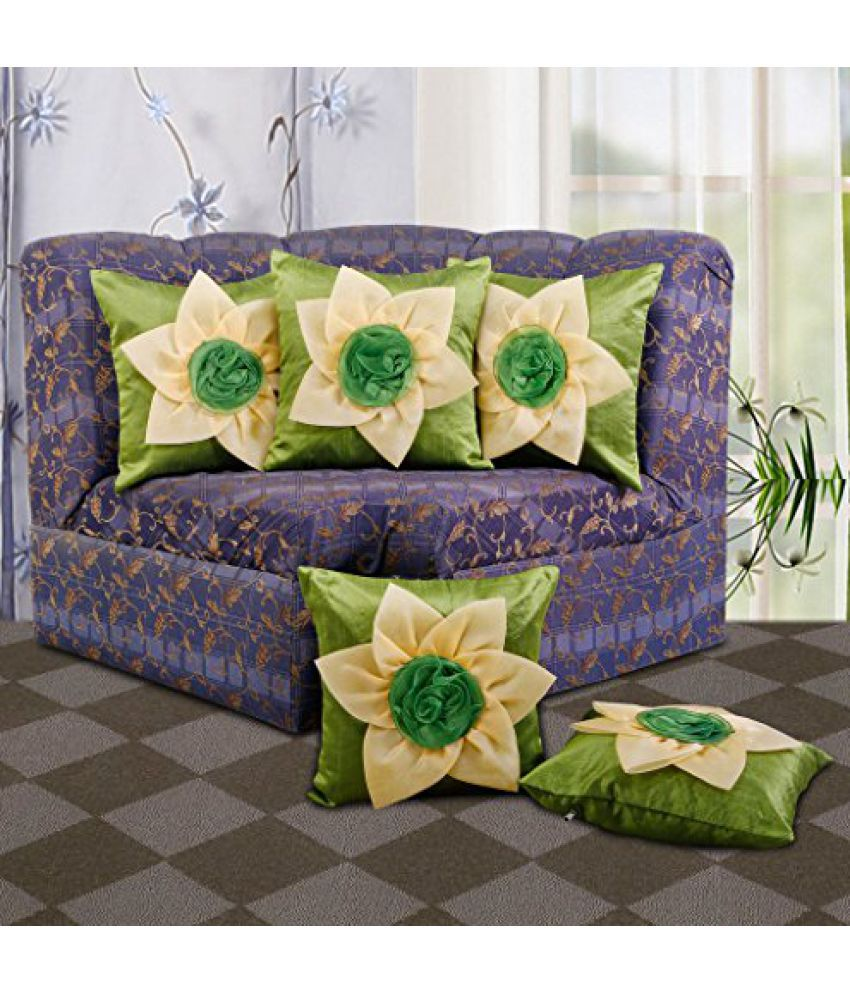Dekor World Double Floral Cushion Cover (Pack of 5)