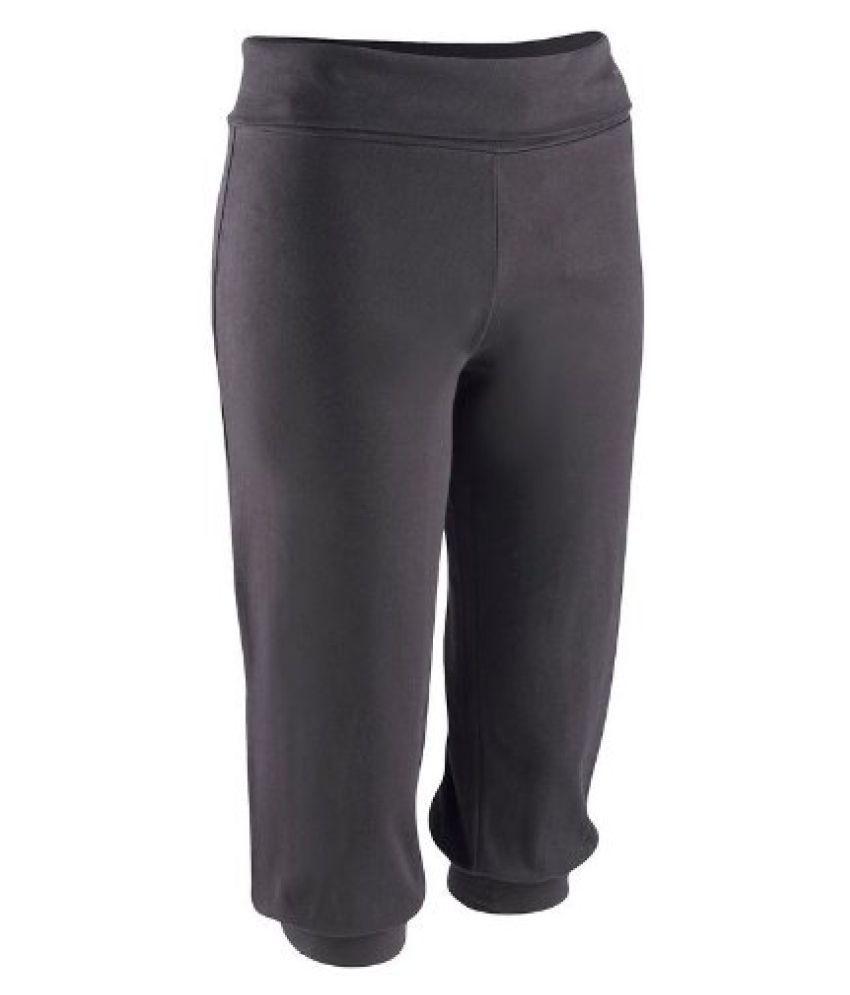 Domyos Soft Gym Yoga Tops/Bottoms (Black) - XL