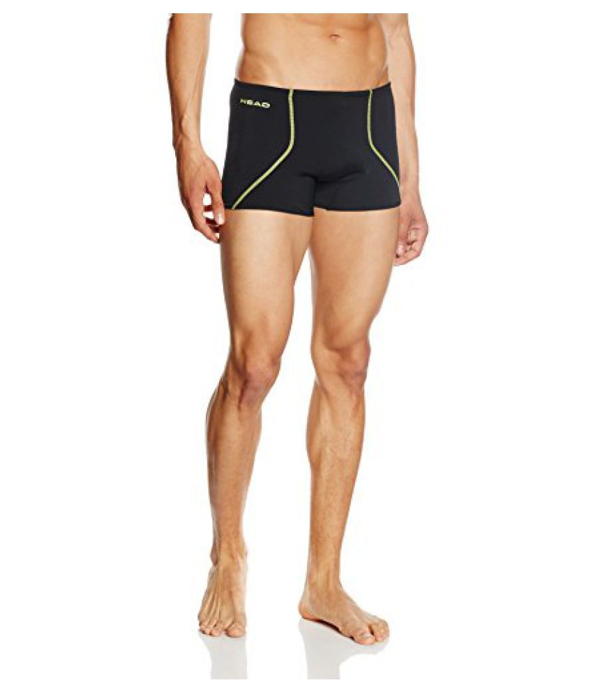 HEAD Swimwear SOLID Y 27 BOXERS (BLACK LEMON, LARGE 32)/ Swimming Costume