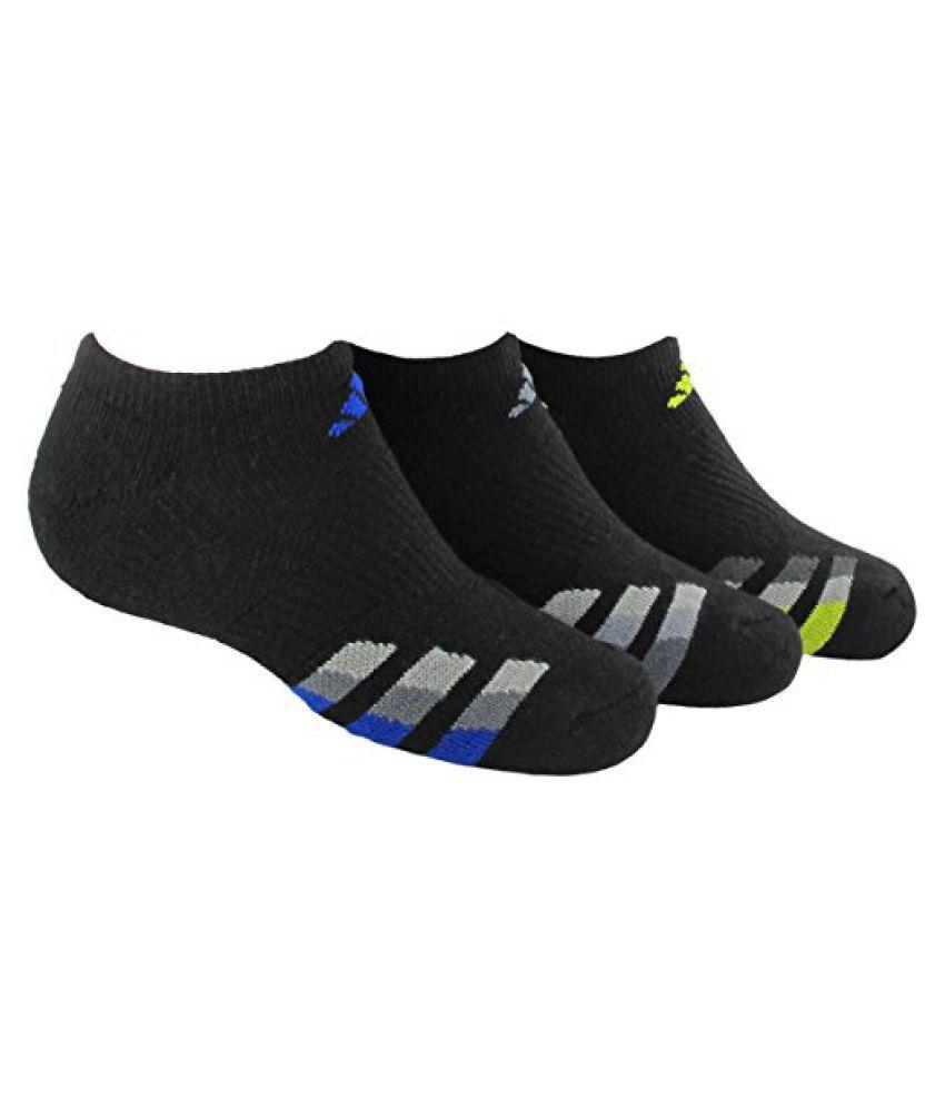 adidas Boys Cushion No Show Socks (Pack of 3)