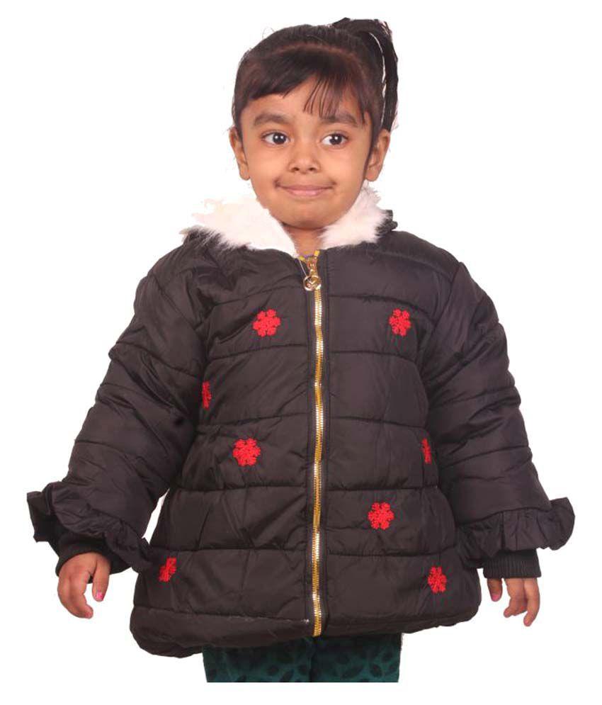Owlkart Black Polyester Jacket