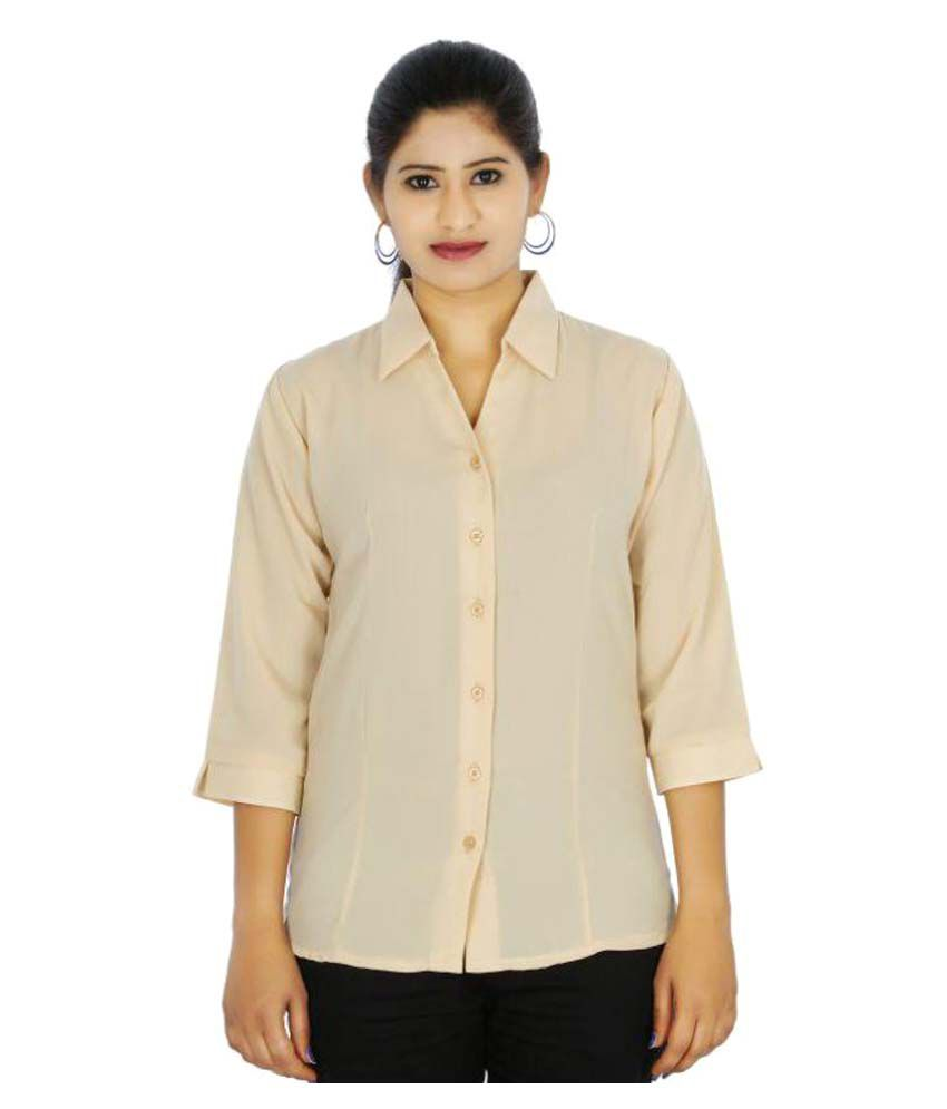 It's Fashion Poly Chiffon Shirt