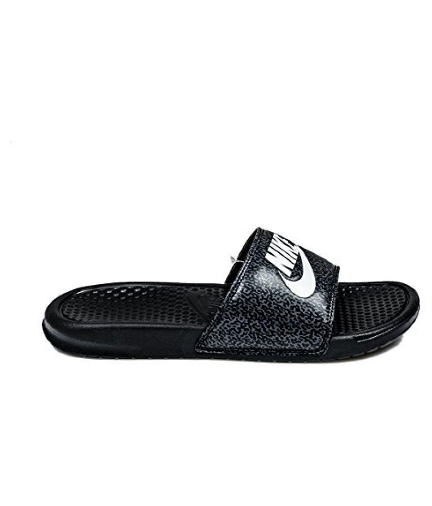 39e6753ddd7b Nike Men s Benassi JDI Print Black  White - Anthracite Slippers - Buy Nike  Men s Benassi JDI Print Black  White - Anthracite Slippers Online at Best  Prices ...