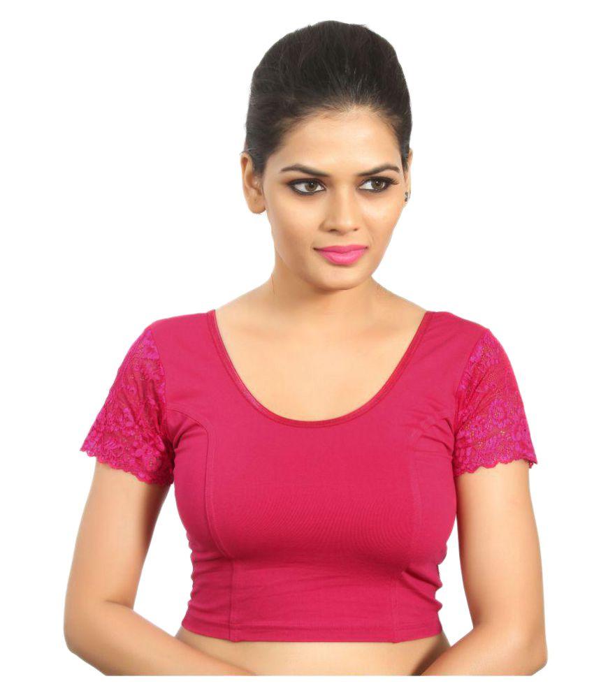 Atulya Designer Blouse Pink Round Shape Back Blouse