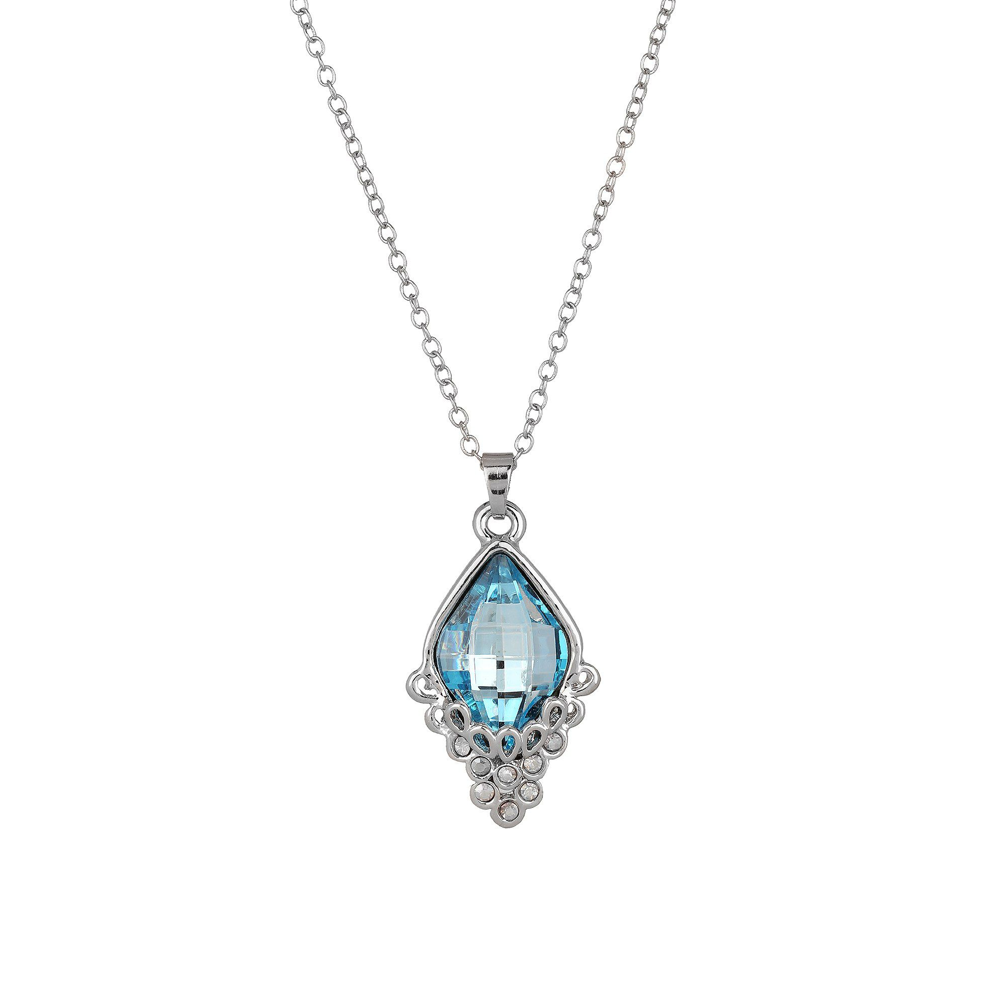 Nirosha Silver Plated Austrian Crystal Necklace for Women