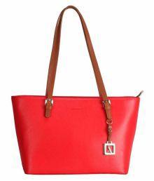 Adamis Red Pure Leather Shoulder Bag