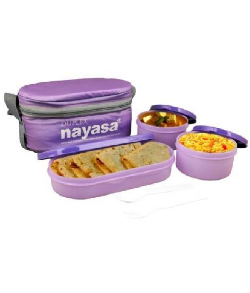 Nayasa Trendy Duplex Lunch Box  Purple