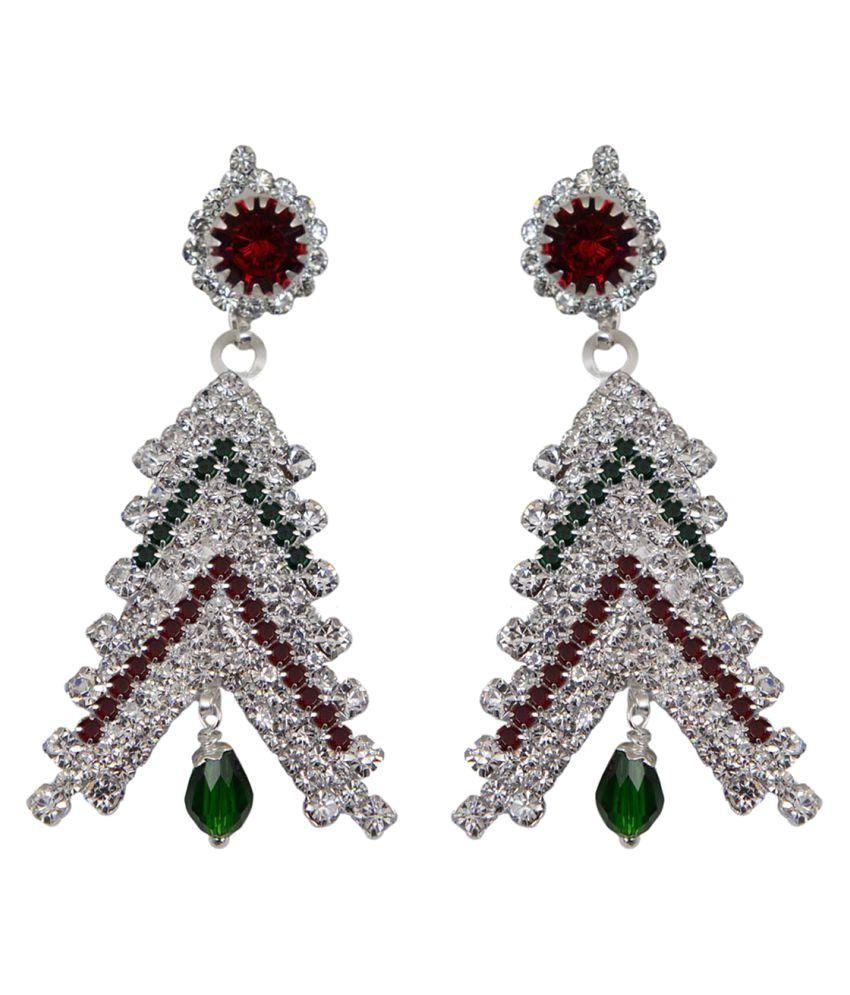 Taj Pearl Multicolour Drop Earrings
