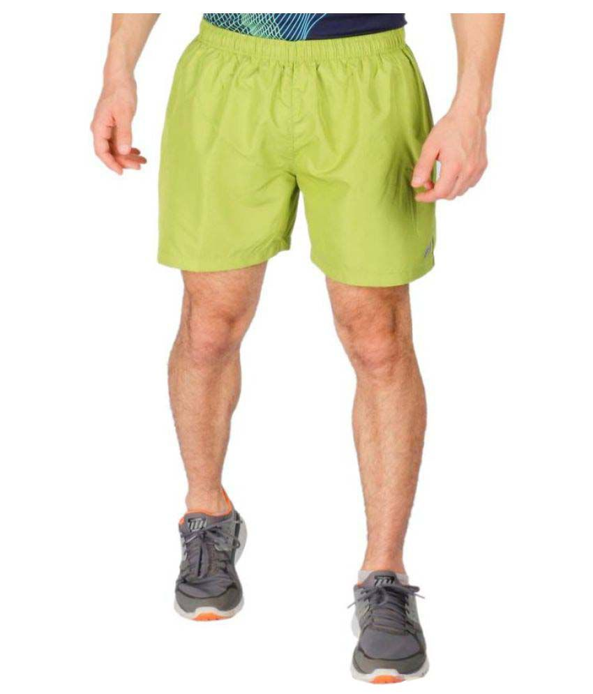 Vector X Solid Men Light Green Sports Shorts