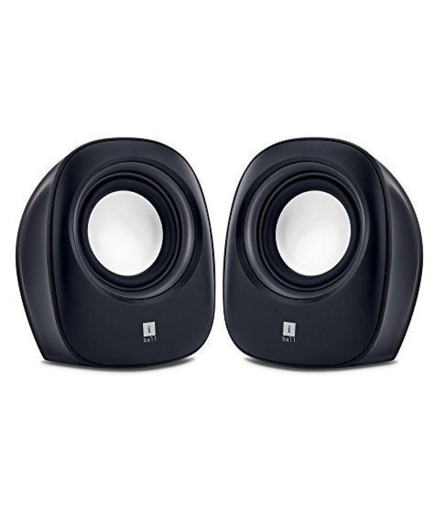 iBall Soundwave2 2.0 Multimedia Speakers, Black