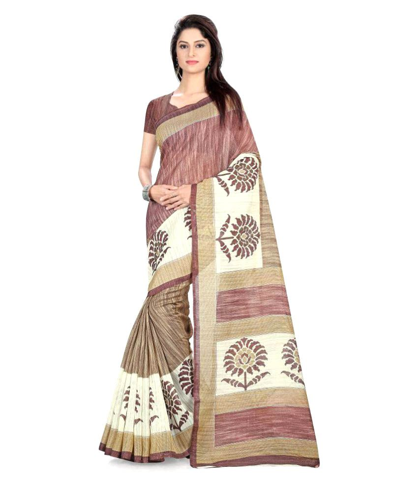 An Ethnic Affair Multicoloured Bhagalpuri Silk Saree