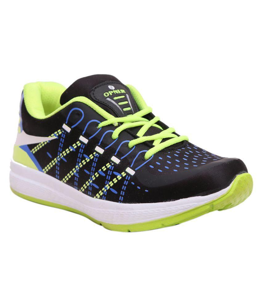 Opner Black Running Shoes
