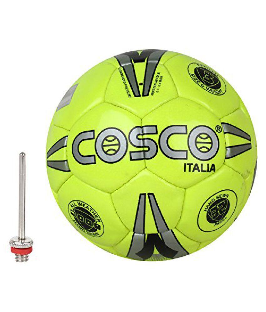 Cosco Italia Football, Size 3 (Silver/Green/Black)
