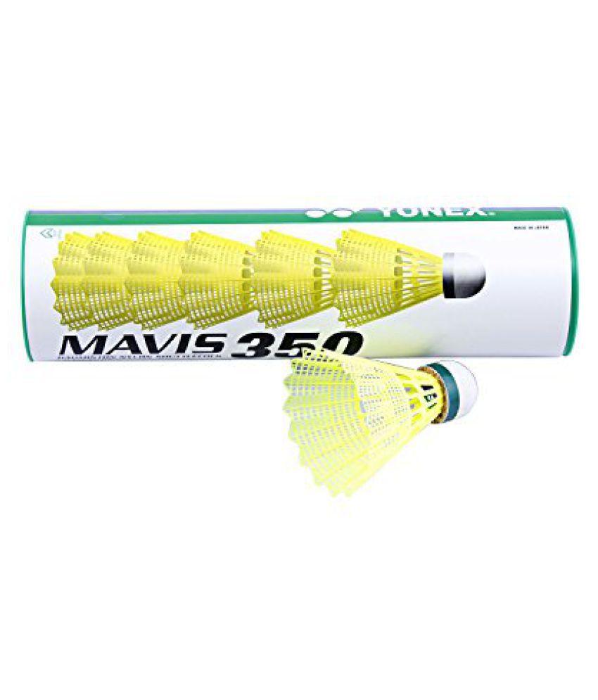 Yonex Mavis 350 Green Cap Nylon Shuttlecock (Yellow)