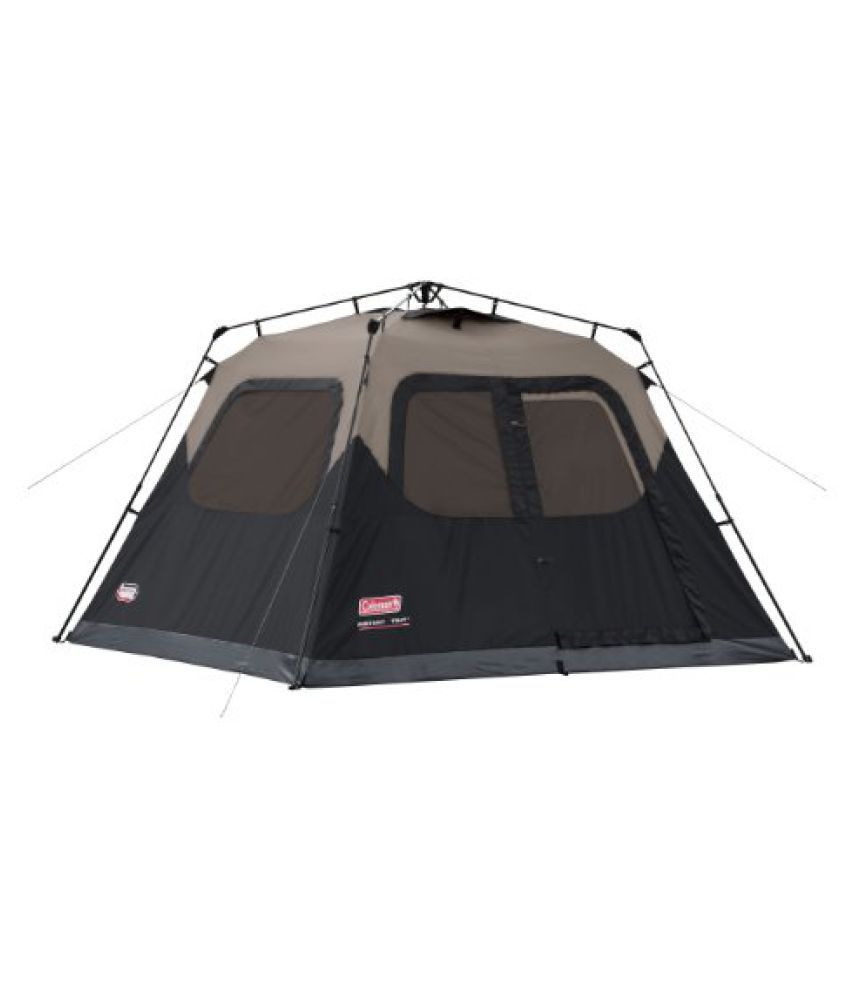 Coleman Instant 6 Tent, 10ft x 9ft (Brown/Black)