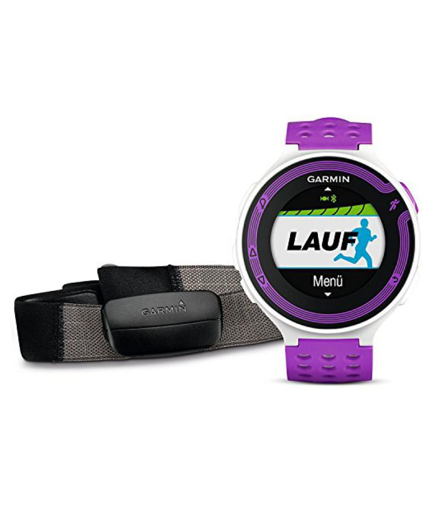 GARMIN Forerunner 220 Watch HRM Bundle, White/Purple