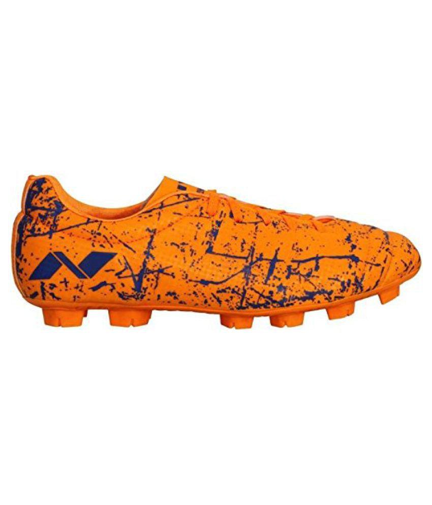 Nivia Encounter Football Shoes Orange Blue
