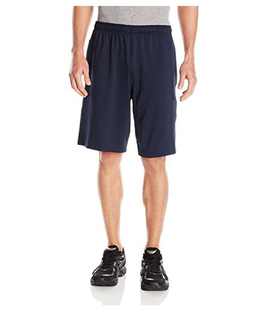Reebok Men's Training Essentials 10-Inch Color Block Stretch Knit Shorts