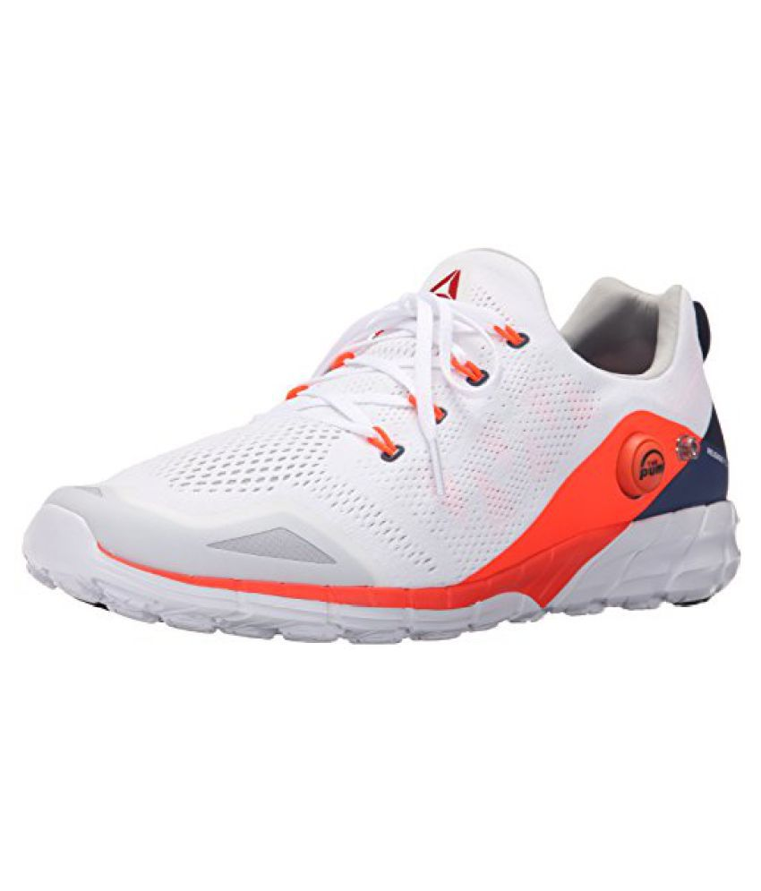 Reebok Men s Zpump Fusion 2.0 Knit Running Shoe White/Atomic Red/Midnight Blue/Collegiate Navy/Steel 7 D(M) US