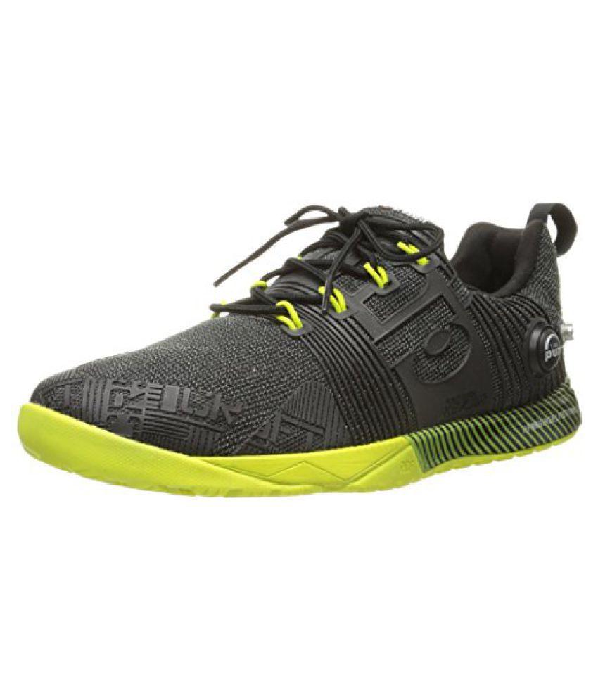 Reebok Women s Crossfit Nano Pump Fusion Cross-Training Shoe Black/Semi Solar Yellow 7.5 B(M) US