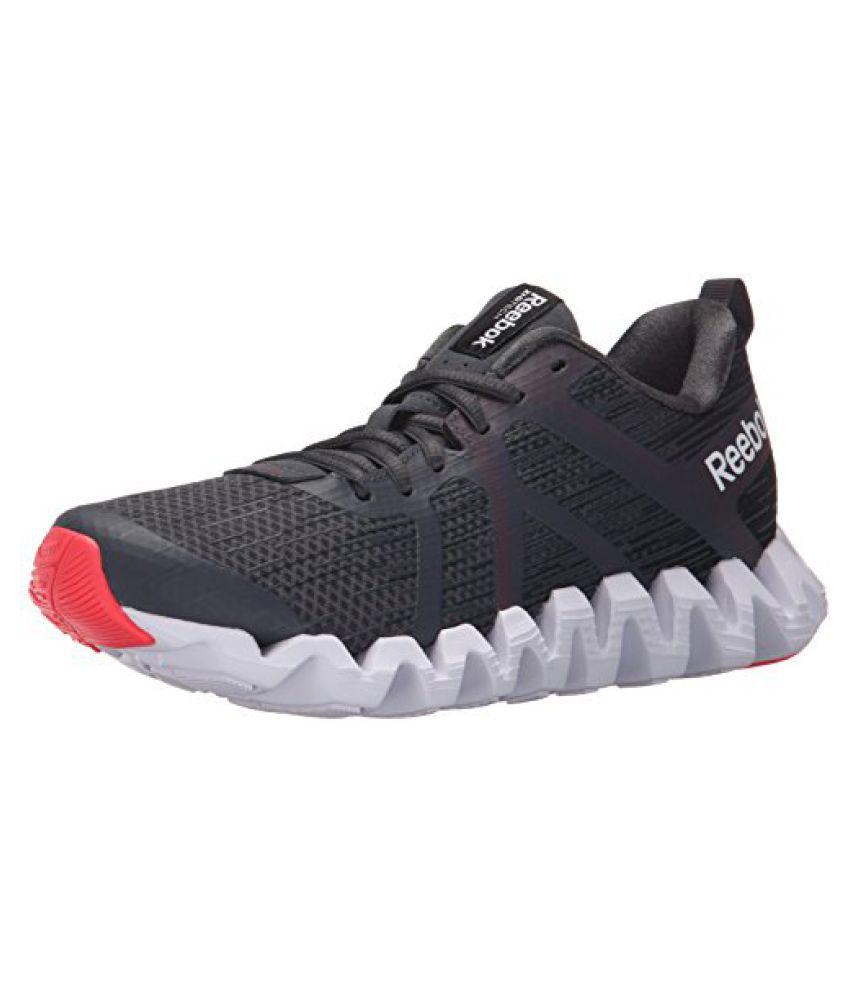 Reebok Women's Zigtech Squared 2.0 Running Shoe Gravel/Graphite/Neon Cherry/White 8.5 B(M) US