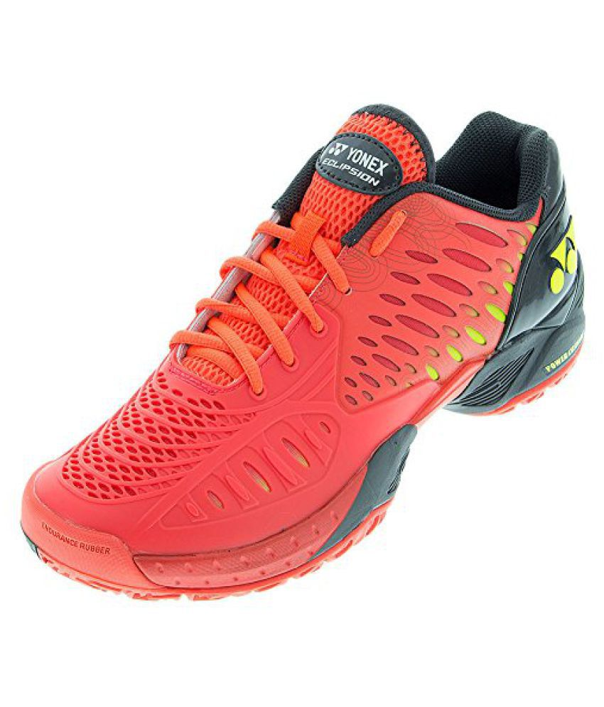 Yonex Men s Power Cushion Eclipsion Tennis Shoe-Red Black